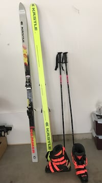 Kastle mogul skis size 190 with boots size 25.0  Why rent when you can own one!