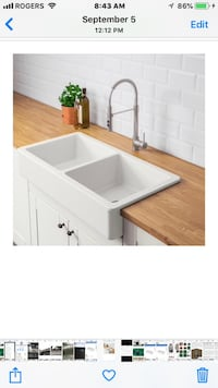 Apron Front Double sink -NEW Dorval, H9P