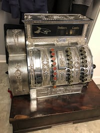 1920's Great condition Nickel plated National cash register. Fully working Toronto, M6E