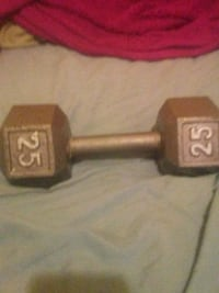 black and gray fixed weight dumbbell Warren, 16365