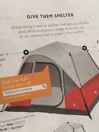 Tent this is a picture of a tent most like ours ,ours has a pitched roof and a fly Red Deer, T4P 3X1