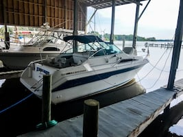 SeaRay 220DA with NEW Mercruiser engine and lower unit.