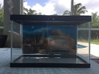 Glass tank with back paper 16 inches wide.   8 inches long.    10 and a half inches high The Acreage, 33470