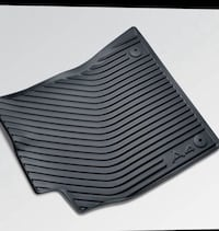 All weather rubber car mat front and rear