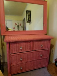 brown wooden dresser with mirror Stanley, 28164