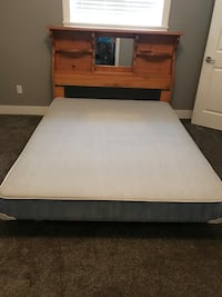 Queen size bed with head board, stand and box. One night stand and one chest  Surrey, V3V 4N1