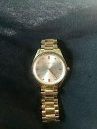 round gold-colored analog watch with link bracelet Fresno, 93705