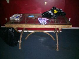 2 Peiece Table Set/ One With Wine Bottle Holders