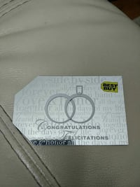 200$ best buy gift card, 170 not a penny less.