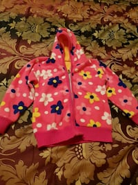 pink and white polka dot zip-up hoodie Greater London, NW11 7ES