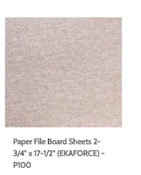 "File boards sandpaper 2-3/4"" X 17-1/2"" Surrey"