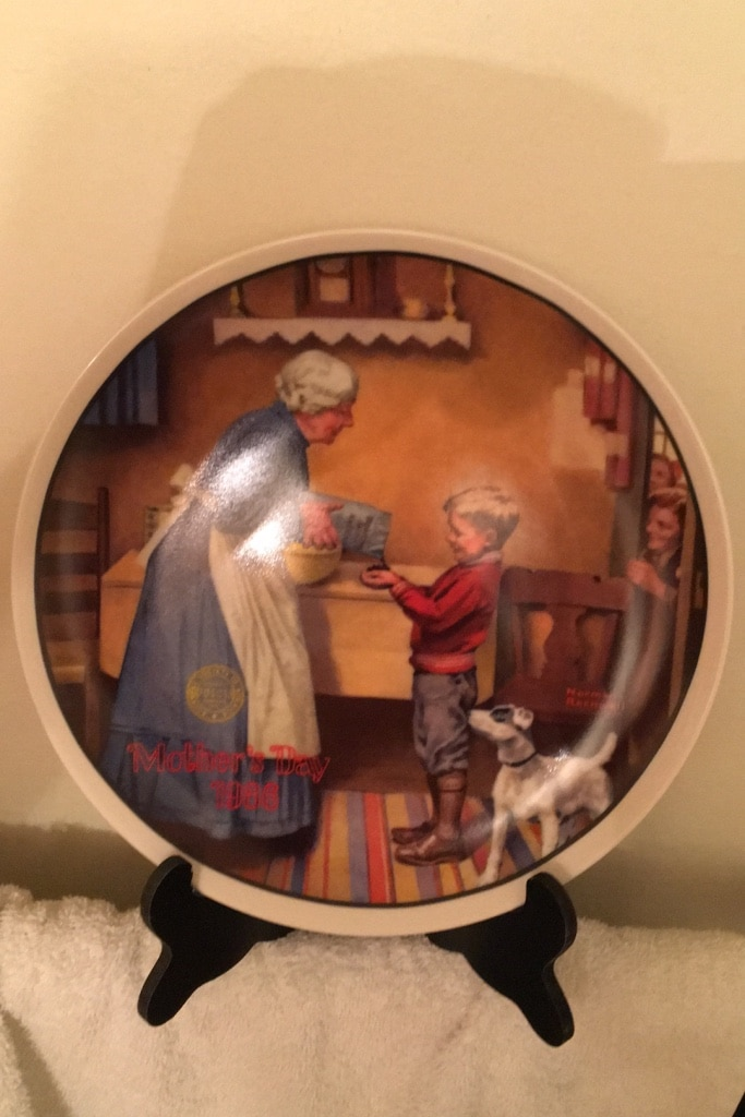 Photo 1986 Norman Rockwell plate