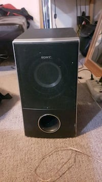 black and gray subwoofer speaker Kamloops, V2E 2G3