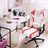 Red and white Shero gaming chair  / racing office chair Virginia Beach