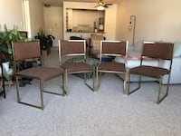 4 Beautiful Vintage Dining Chairs Santa Monica, 90401