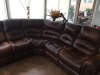 3-piece leather sectional sofa. Jacksonville, 32258