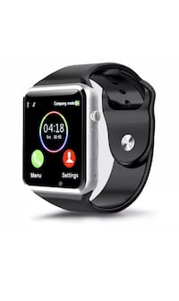 New black smart watch works with iPhone and Samsung