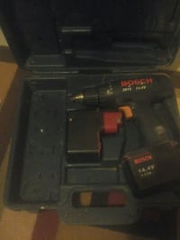 black Bosch cordless hand drill with case
