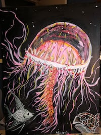 multicolored painting of jellyfish Maple Ridge, V2W 1H5