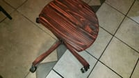 Rolling wood chair