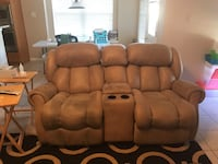 Tan Leather Sofa and Loveseat Pflugerville, 78660