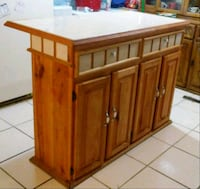 brown wooden cabinet with drawer Laredo, 78046