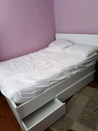 White IKEA DOUBLE bed frame w/o mattress Mission
