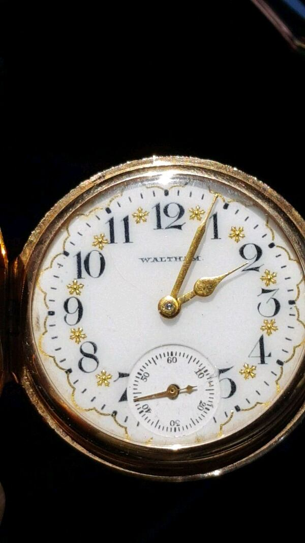 14K Gold Vintage Waltham pocket watch 0-size 0