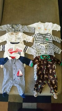 8 baby sleeper outfits size:newborn