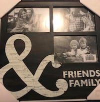 Friends and family wooden frame