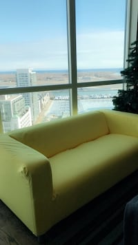 green leather 2-seat sofa Toronto, M5V