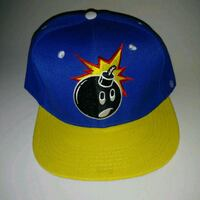 NEW yellow blue snapback cartoon bomb embroidery Edmonton, T6X 1J9