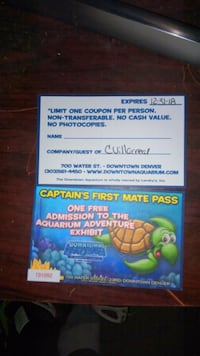 Denver aquarium tickets Denver, 80216