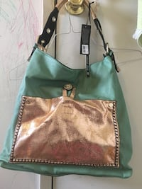 women's green and brown leather shoulder bag Bakersfield, 93304