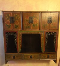 """Old antique wall cabinet (redone )30""""x9""""x30"""""""