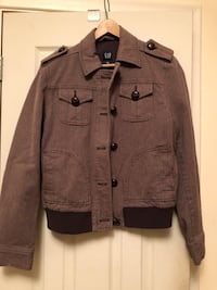 Brown button up jacket