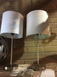 two white and gray floor lamps Toronto, M6B 2J7