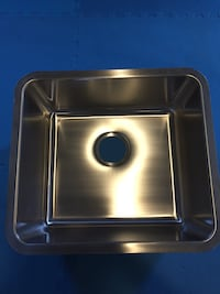 Square gray stainless steel kitchen sink Innisfil, L9S