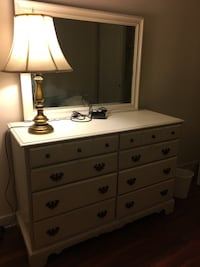 white wooden dresser with mirror Alexandria