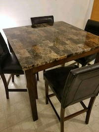 rectangular brown marble top table with four chairs dining set Wayne, 07470