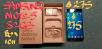 TRADE or Firm $275 SAMSUNG NOTE5 32GB BOX+charger Pointe-Claire, H9R 1N9