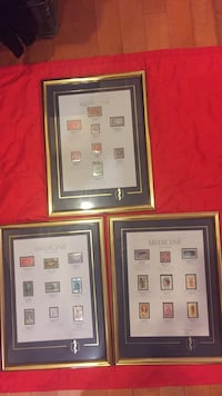 Stamps  of Medicine Framed and Mattes Pictures