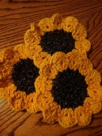 Crocheted sunflower coasters Florence, 29501