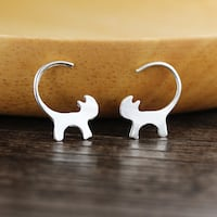 Cat Earrings null