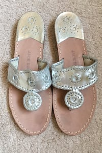Jack Rogers Silver Sandals 9.5 M Springfield, 22152