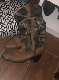 pair of brown leather boots Cape Canaveral