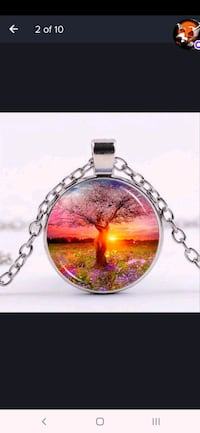Tree of life photo Tibet silver cabochon glass pendant chain necklace  Kitchener, N2G 4X6