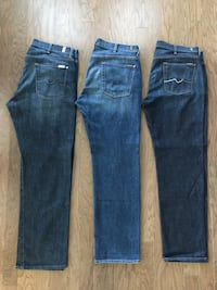 Men's 7 For All Mankind Jeans Size 40/32 - $120 for all 3 or Best Offer Laurel, 20707