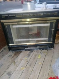 black and gray electric fireplace 2167 mi
