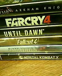 four assorted Xbox One game cases Chicago, 60612